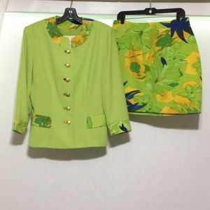 Vintage Cache 2pc Outfit Jacket and Skirt Size 14